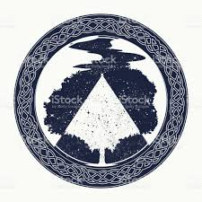 magic tree tattoo and tshirt design tree of life tattoo art symbol