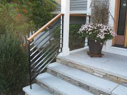 Handrails For Outdoor Steps Colonial Iron Works Iron Exterior Handrails