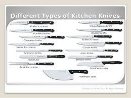 different types of kitchen knives types of chef knives