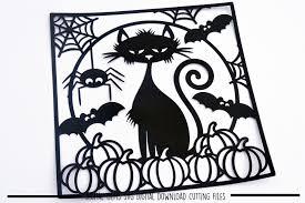 halloween paper products halloween paper cut svg dxf eps fil design bundles