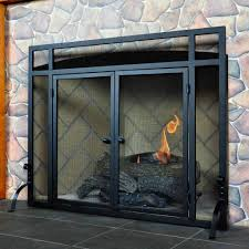 Contemporary Fireplace Doors by Vintage Fireplace Screens With Doors For Family Room Ward Log Homes