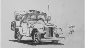 jeep artwork araba çizimi draw jeep willys youtube
