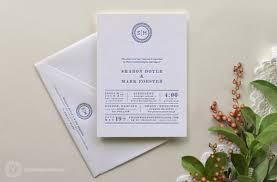 custom wedding invitations yesterday creative letterpress