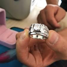 men hand rings images Yanhui original natural 925 silver rings for men sona 1 carat jpg
