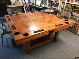 reclaimed wood game table amazing bradley industrial reclaimed wood iron foosball table