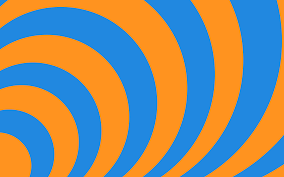 Orange And Blue Home Decor Orange And Blue Wallpaper Wallpapersafari Concentric By Ts2master