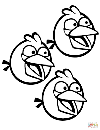 angry birds blue bird coloring pages eson me