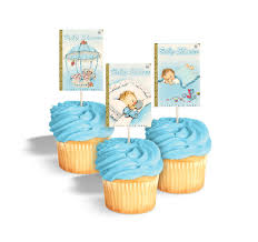 baby shower cupcake toppers printable book themed baby shower