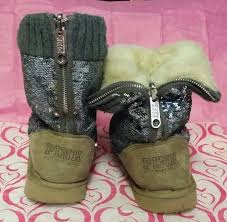 s ugg type boots free s secret pink silver fur boots ugg style