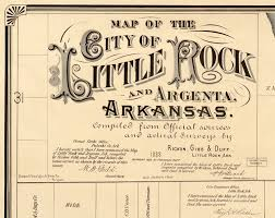 me a map of arkansas map of rock arkansas 1882 maps and vintage prints