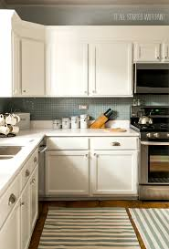 Kitchen Cabinets With Countertops Builder Grade Kitchen Makeover With White Paint