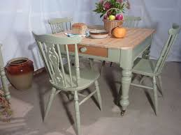 Victorian Pine Farmhouse Table And  ChairsPainted Vintage - Victorian pine kitchen table