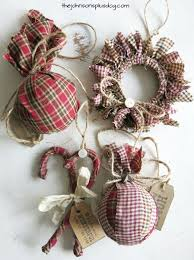 unique handmade christmas ornaments diy homespun fabric christmas ornament easy and unique diy