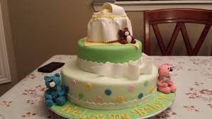 super cute baby shower cake bassinet and teddy bears youtube