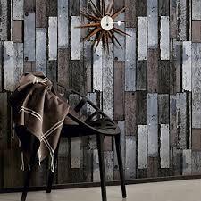 memory 3d vintage embossed wood effect vinyl wallpaper for