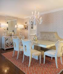 restaurant banquette design dining room transitional with mirrored