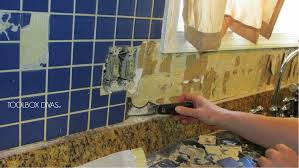 Hanging Pictures On Drywall by Tile Removal 101 Remove The Tile Backsplash Without Damaging The
