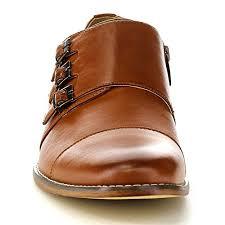 light brown monk strap shoes uv signature ea27 men s chic cap toe monk strap dress shoes run half