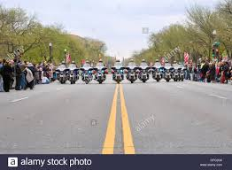 National Cherry Blossom Festival by A Formation Of Motorcycle Police Leading The National Cherry