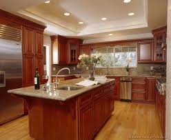 Oak Cabinets Kitchen Ideas Pictures Of Kitchens Traditional Medium Wood Kitchens Cherry