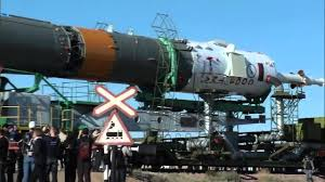 expedition 36 37 soyuz rocket moves to launch pad youtube