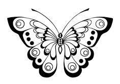 18 desenhos de borboletas para bordar ou desenhar stenciling