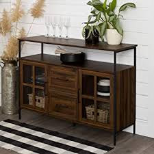 buffet sideboard cabinet storage kitchen hallway table industrial rustic buffets and sideboards