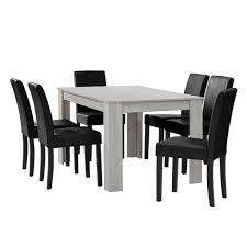 Esszimmertisch Schwarz En Casa Esstisch Eiche Weiß Mit 6 Stühlen Real