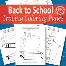tracing coloring pages free printable