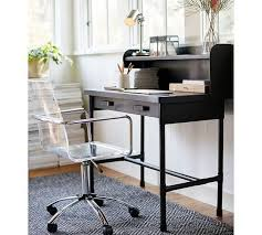 metal black hutch desk