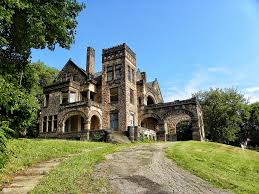 sharon pennsylvania victorian stone mansion on the hill this