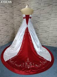 Red And White Wedding Dresses Compare Prices On Red Strapless Wedding Dresses Online Shopping