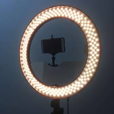 circle light for video studio dimmable 18 55w 5500k led camera mirror video ring light kit