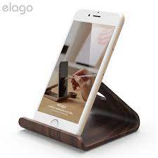 elago w2 iphone and wooden desk stand