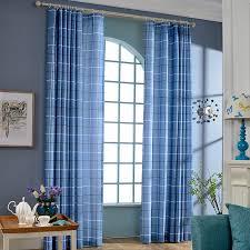 Blue Plaid Curtains Modern Curtains