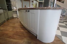 ex display kitchen island large oak shaker painted ex display kitchen designer island