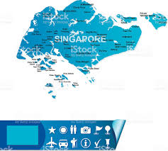 Singapore Map World by Singapore Map Stock Vector Art 165817538 Istock