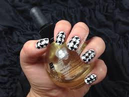 houndstooth nail tutorial youtube