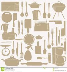 vector illustration of kitchen tools for cooking royalty free