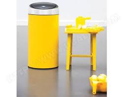 poubelle cuisine jaune brabantia touch bin 45l jaune 424601 pas cher poubelle touch