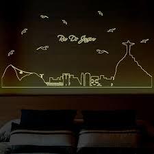 glow in the dark bedroom 3d diy removable luminous vinyl wall stickers glow in the dark