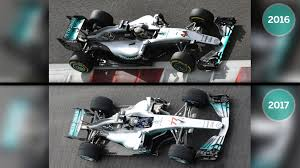 mercedes formula one gallery how the 2017 mercedes compares to last year s car