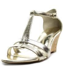 lauren by ralph lauren harleen women open toe leather gold wedge
