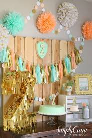 Mint And Coral Home Decor by Best 25 Mint Gold Ideas On Pinterest Mint Party Tissue Paper