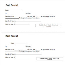 top 5 samples of rent receipt templates word templates excel