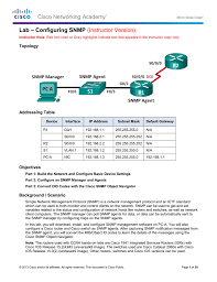 lab u2013 configuring snmp instructor version