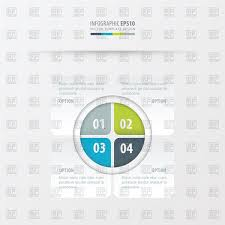 Blue Gray Color Rectangle Presentation Design Green Blue Gray Color Vector