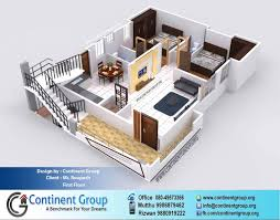 2bhk Plan 3d Floor Plan Service In Bangalore Continent Group