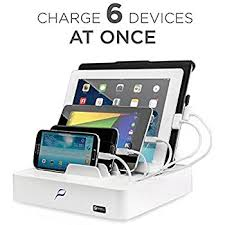 Recharge Station Amazon Com G U S 4 Port Usb Cell Phone Charging Station