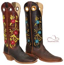 custom floral boots mens western style 16 inch oil tan hondo 3200